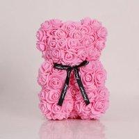 Nouveau cadeau de la Saint-Valentin PE 25 cm Rose Bear Jouets farcis plein d'amour Romantique Teddy Ours Poupée Jolie petite amie Enfants Présent