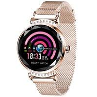 Uhren dynamische UI-Farbbildschirm-Diamant-Modellierung Physiologische Periode Reminder Lady's Fashion Smart Watch mit Herzfrequenzüberwachung
