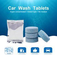 10PCS / 많은 자동차 앞 유리 컴팩트 유리 세탁기 청소 클리너 발포성 정제 세제 솔리드 와이퍼 인스턴트 앞 유리 세탁기