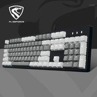Keyboards Fuling Light and Magic X1 Videospiele Wasserdichte Mechanische Tastatur USB-Kabel Schwarz Welle Waschbare Austauschbarer PBT Keycap1