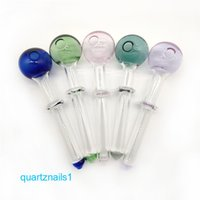 Newest Popular Cheap Colorful Pyrex Glass Oil Burner Pipe Color Glass Oil Burner Glass Tube Pipes for Smoking