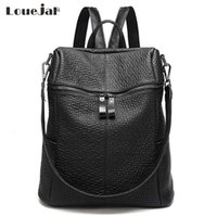 14 Inch Laptop Backpack donne 3-in-1 multifunzione MacBook Borsa in pelle di grande capienza Zaini viaggio Mochila