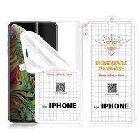 Protetores de tela de hydrogel tpu anti arranhão para iPhone 12 mini 11 pro máx x xs xr frente sem pacote