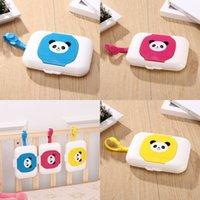 Bebê dos desenhos animados caixas de tecido animal panda printas pendurado toalha molhada caixa de armazenamento portátil toalha molhada titular de viagem 7hy e1