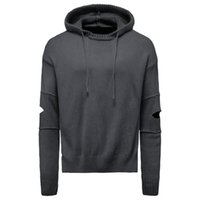 Men's Sweaters Autumn Style Sweater Hooded Pullover Knit