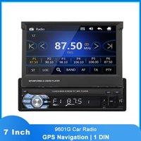 "7 ""HD 1 DIN 9601G Автомобильная радиорегистратор Auto Radio Autoradio Bluetooth GPS навигация SD FM USB AUX автомобиль стерео мультимедиа"