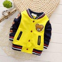 İlkbahar Sonbahar Bebek Dış Giyim Erkek Ceket Çocuk Kız Giyim Çocuk Beyzbol Bebek Sweatershirt Toddler Moda Marka Ceket Suit LJ200828
