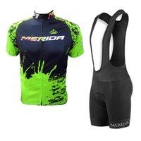 2020 Merida Takımı Bisiklet Jersey Suit Mtb Bisiklet Gömlek Önlüğü Şort Takımı Bicicleta Maillot Erkekler Bisiklet Giyim Yarış Bisiklet Spor Y0327