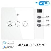 Interrupteur à roulettes à rideau intelligent WiFi RF 433 Touch Panneau interrupteur Voix / APP Télécommande Timing pour Alexa Google Home1