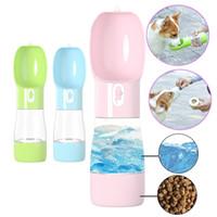 متعددة الوظائف تغذية الحيوانات الأليفة المحمولة زجاجة ماء في الهواء الطلق الكلب القط السفر التغذية الشرب السلطانية جرو الغذاء مصدر مياه