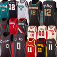 2021 Ja 12 Jersey Morant Damian 0 Lillard Trae 11 Jeune Jersey Carmelo 00 Anthony Basketball Jerseys Stitchesd Logos Mens S-XXL
