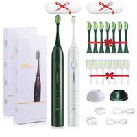 CANDOR Spazzolino elettrico CD5133 IPX7 impermeabile automatico Spazzolino Sonic ricaricabile 15 modelli con 16 teste della spazzola