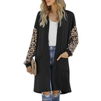 2021 New Woman Jacket Fashion With Length Leopard Print Long...