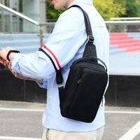 AIZHIYI Men Sling Bag Chest Messenger Bag Nylon USB Headphon...