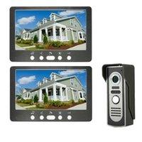 Video-Door-Telefone 7-Zoll-Telefon-Türklingel-Intercom-Kit 2 Innen-Monitor 1 Outdoor-Kamera Freisprecheinrichtung Call Electric Lock-Control