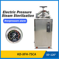 zoibkd 실험실 용품 30-75L 자동 오토 클레이브 수직 디지털 증기 살균기 고압 살균 냄비