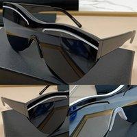 0004 인기있는 새로운 선글라스 고양이 눈 절반 프레임 안경 간단한 남성과 여성 비즈니스 스타일 안경 렌즈 레이저 최고 품질 UV400 보호