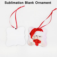 Süblimasyon Boş Süsler DIY Kolye El Yapımı Özelleştirmek Noel Ağacı Kolye Çift Taraflı MDF Yaratıcı Dekorasyon YFA2704