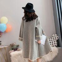 2020 새로운 패션 가짜 밍크 모피 코트 가을과 겨울 재킷 느슨한 대형 긴 니트 카디건 코트 여성 두꺼운 LJ201204