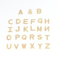 20pcs Stainless Steel A-Z Letter Gold Charms Alphabet Charm Pendants For Bracelet Necklace Earring Crafts Making Accessories1