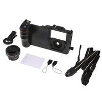 2 en 1 Téléphone Grand angle Cage objectif stabilisateur Ensemble avec caméra clip 52mm Cover DSLR Dragonne Boucle d'accessoires