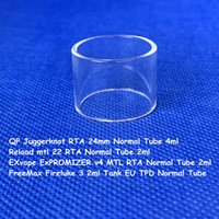 Qp juggerknot 24mm 4ml recarregar mtl 22 exvape expromizer v4 mtl rta freemax fireluke 3 2 ml tanque UE TPD limpar tubo de vidro normal