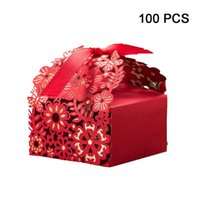 100pcs 50pcs Laser Cut Wedding Favor Boxes Lace Hollow Wedding Candy Box Casamento Favors And Gift Wrapping Box