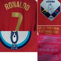 2020 Match Worn Playe Problema Ronaldo João Felix Bernardo Pepe Fernandes com 100 gols Match Detalhes Soccer Patch Badge