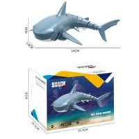 2.4G Simulación de control remoto de juguete de broma de tiburones, rotación de 360 grados, velocidad ajustable, 20 minutos de resistencia, para regalo de Navidad niño, 2-2