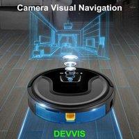 La nuovissima fotocamera Visual + Gyroscope Navigation Robot Aspirapolvere Aspirapolvere Automatico per la casa con controllo dell'app WiFi, memoria intelligente, acqua serbatoio11