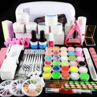 Acrílico Nail Set Liquid Glitter Para Unhas Gel Polonês Nail Decorações Ferramentas Prego Kit Profissional Set Tudo para Manicure