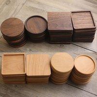 Coussins de table en bois simples et à la mode Coussins de table Coussins antidérapants isolants thermiques Créatifs ronds de bois massif BD01