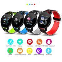 Новый 119 Plus Смарт браслет Fitness Tracker ID119 Часы сердечного ритма ремешок Смарт браслет 119Plus для сотовых телефонов с коробкой Fitbit MI