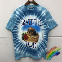 4 colori Blue Tie Dye Stampa T-shirt da uomo Donne Unisex Top Quality Top Tees T-shirt