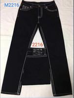 Envío gratis de alta calidad Hot Mens Robin Jeans Partamentos de cristal Pantalones de mezclilla Pantalones de diseño Tamaño de los hombres 30-40 9138