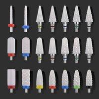 Seramik Tırnak Matkap Ucu Elektrikli Manikür Matkaplar için Makine Freze Kesici Tırnak Dosyaları Manikür Kesici Nail Art Araçları