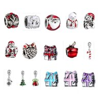 Wholesale 30pcs lot Christmas Charm Color Silver European Ch...