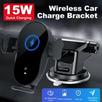 QI Car wireless charger phone mount 15W fast charging holder 2 in 1 for iPhone Samsung long arm car holder with suction