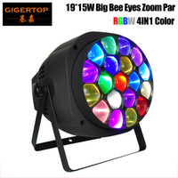 TIPTOP Luce di scena stupefacente Bee Eye Par di zoom e rotazione Big Bee Eye 19X15W 4in1 RGBW fascio colorato DMX512 suono, master / slave