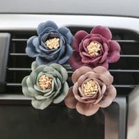 L'alta qualità del cunicolo di ventilazione del profumo di fiori profumo Auto uscita Deodorante Solid Fragrance di designazione 4 colori Auto Decori