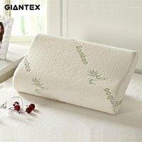GIANTEX Almohada de fibra de bambú de alta calidad Memoria de reposabilitación lenta Almohada de espuma Atención de salud Massager Travesseiro Almohada U03011