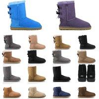 Australia Botas para mujer Castaño Botas de nieve marrón rosa azul marino azul negro moda clásico tobillo bota corta zapatos de invierno