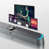 Altavoces de estantería 2021 TV Bar Bar AUX USB Cableado con cable y Wireless Bluetooth Home Theatre Sound Barra de sonido para PC altavoz con micrófono