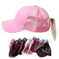 Kadın At Kuyruğu Beyzbol Şapkası Kadın Snapback Yaz Örgü Şapka Kadın Moda Hip Hop Şapka Rahat Ayarlanabilir Açık Kemik H Jllzhu