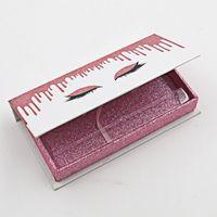 도매 마그네틱 눈 속눈썹 상자 8mm-30mm 풀 스트립 속눈썹 3D 5D 6D 100 % 진짜 밍크 속눈썹에 대 한 최고의 판매 패키지