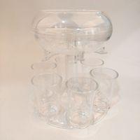6 Shot Acrylic Dispenser Держатель Пластиковый Диспенсер для вина с чашками Винные стойки Охладитель Пивной Ремонт Диспенсеры с выстрелом Инструменты GGA3832-1