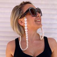 Nueva llegada lujosa cadena de las lentes multi Tipos buenas perlas artificiales con cierre de langosta para todo uso Gafas boca Cadenas Máscara