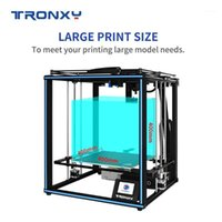 Tronxy X5SA-400Pro طابعة ثلاثية الأبعاد موتسر الحجم 400 * 400 ملليمتر كوركسي diy أطقم متعددة الوظائف دليل محرك هادئ السكك الحديدية بودا تيتان الطلاء 1