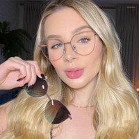 Солнцезащитные очки One Set Поляризованный магнитный клип на женщин Градиентная линза прозрачный анти синий свет очки сплава мода очки UV1
