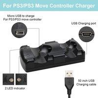 المزدوج شاحن USB مزدوجة شحن بالطاقة قفص الاتهام للبلاي ستيشن 3 لسوني PS3 للتحكم نقل الإنتقال # 5
